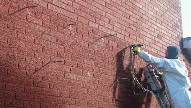 injection PUR mur creux